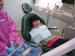 A young Providence Dental Associates patient